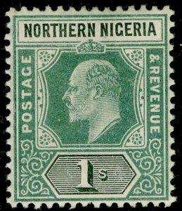 NORTHERN NIGERIA SG16, 1s green & black, M MINT. WMK CA