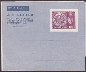 SOUTHERN RHODESIA 1953 Rhodes Cent 6d airletter fine unused.........35141
