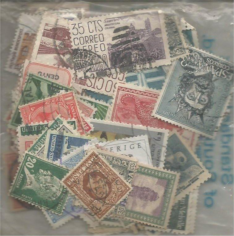 Worldwide x100 mixed used and mint (all different)