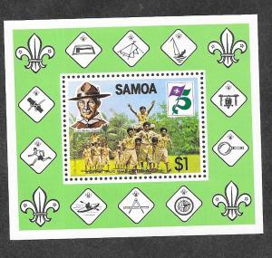 Samoa MNH S/S 578a Scouting 1982