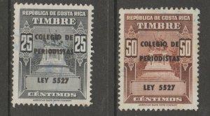 Costa Rica College revenue fiscal cinderella stamp scarce seldom seen 6-15-22