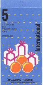 Canada - 1991 80c Sinterklaas Booklet #BK136b Open Cover VF-NH