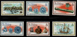 St Helena Sc 318-23 1978 Wreck of the Witte Leeuw stamps set mint NH