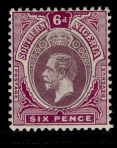 SOUTHERN NIGERIA GV SG51, 6d dull and bright purple, LH MINT.