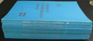FINLAND VOL.1-6 POSTAL STAMP SOFT COVER BOOKS IN FINNISH, HIGHLY SPECIALIZED