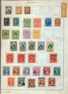 Guatemala 1871/1933 M&U On Old Pages(Appx 100 Items)NS 103