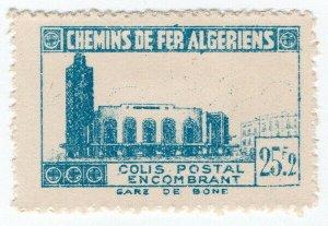 (I.B) France Colonial Railway : Algeria Chemins de Fer 25.2F