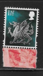 Great Britain Wales 50 from Visions of Universe Booklet MNH