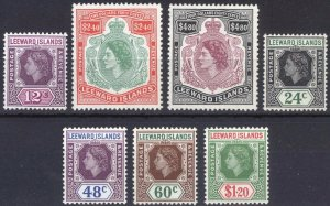 Leeward Is 1954 12c-$4.80 QEII Defin SG 134-140 Sc 141-147 UMM/MNH Cat £51($66)