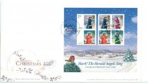 Great Britain 2007 Christmas Souvenir Sheet FDC   Sc# 2523