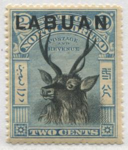 Labuan overprinted on North Borneo 1897 2 ¢ light blue & black perf 14 mint o.g.