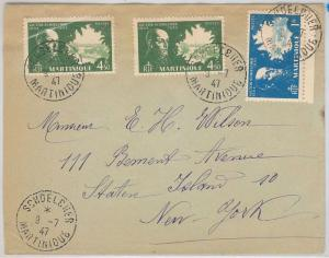 French Colonies: MARTINIQUE -  POSTAL HISTORY: COVER from SCHDELCHER to USA 1947