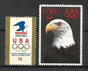 USA STAMPS 1991 EAGLE Sc.#2539, 2540. MNH