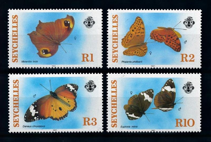 [70725] Seychelles 1987 Insects Butterflies  MNH