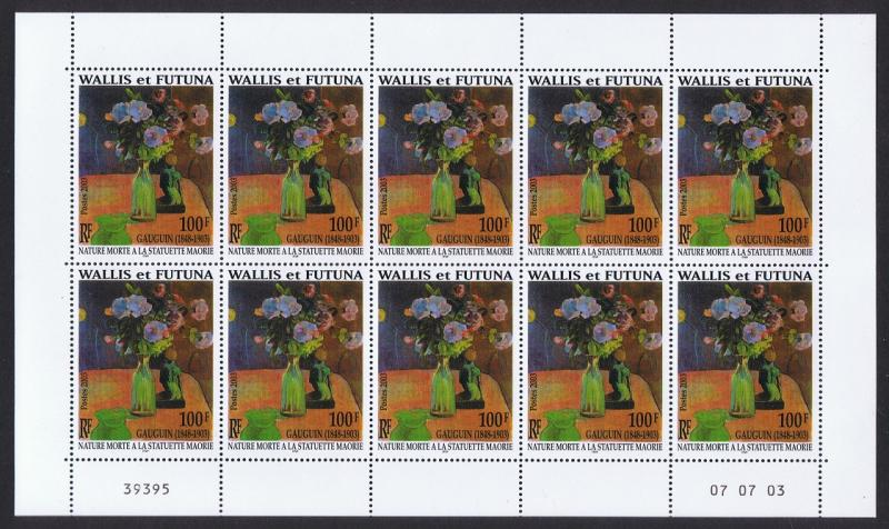 Wallis and Futuna Gauguin 1v Full Sheet of 10 stamps SG#837 SC#572