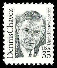 PCBstamps  US #2186 35c Dennis Chavez, 1991, MNH, (4)