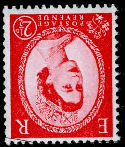 SG614aWi, 2½d carmine-red, TYPE II (1 BAND), NH MINT. Cat £50. WMK INV