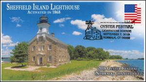 18-317, 2018, Oyster Festival, Pictorial, Postmark, Event Cover, Lighthouse