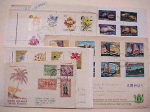 COOK ISLANDS  12 DIFF.   FDC 1946-1980 INCLUDE 2 REGISTERED CACHET ADDRESSED