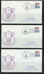 USS PRAIRIE (AD-15) WHOLESALE LOT 7 COVERS W/DUPLICATION AS SHOWN (30)