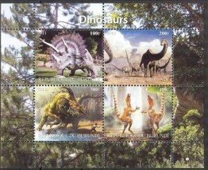 Burundi 2011 Dinosaurs I Sheet MNH** Cinderella !