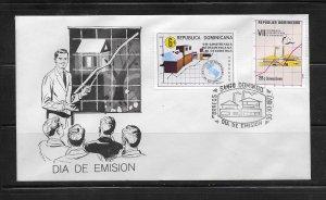 DOMINICAN REPUBLIC STAMPS,COVER VII CONFERENCIA ESTADISTICA 1977 #F23