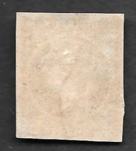 1855, Cuba # 1, Pale Blue Green, Used, Manuscript Cancel, NH, Imperf., 4 margins