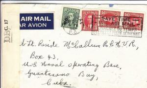 1942, Montreal, Canada to US Naval Station, Censored, See Remark (C3219)