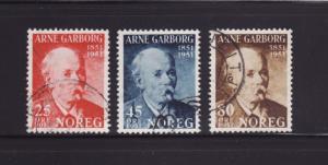 Norway 318-320 Set U Arne Garborg, Poet