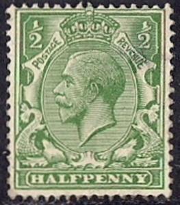 Great Britain #159 1/2P King George 5, stamp unused OG H VF