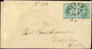 CSA #7 PR ON COVER 1862 CHARLESTON-WALTERBORO,SC BM3177