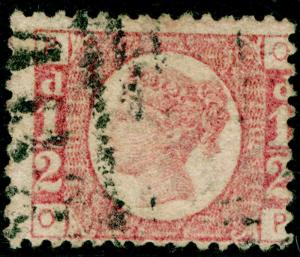SG49, ½d rose PLATE 15, USED. Cat £40. OP