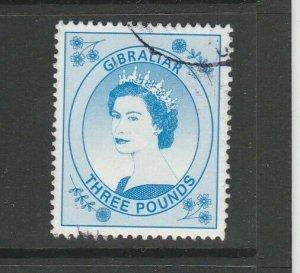 Gibraltar 1999 Defs, £3 Blue FU SG 870