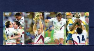 Benin 2003 Rugby World Cup 2003-Space Set(4)Perf.# Ben1/4C