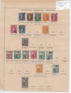 Argentina Stamps on 2 Page Ref: R7253