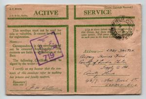 GB 1943 RAF 719 Censor Cover / Tripoli Lybia Base - Z13627