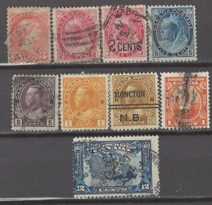 COLLECTION LOT # 5286 CANADA 9 STAMPS 1888+ CV+$21