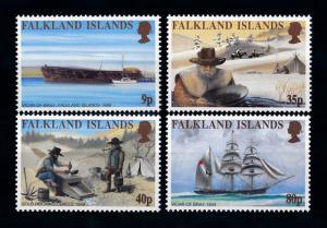 [72048] Falkland Islands 1999 History Gold Rush Ship  MNH