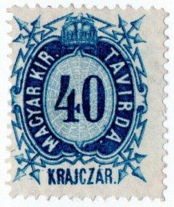 (I.B) Hungary Telegraphs : Magyar Kir Tavirda 40kr