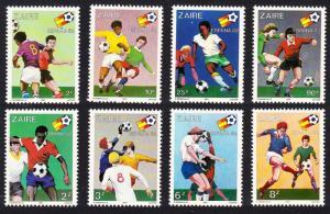 Zaire World Cup Football Championship Spain 8v SG#1067-1074 MI#722-729 CV£10+