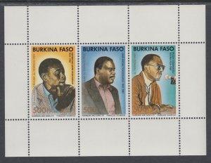 Burkina Faso 872 Souvenir Sheet MNH VF