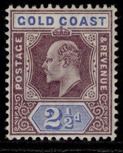 GOLD COAST EDVII SG52, 2½d dull purple & ultramarine, VLH MINT. Cat £65.