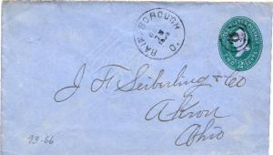 United States Ohio Rainsborough 1892 target  1837-1893  Postal Stationery Env...