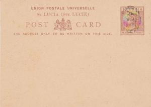 Saint Lucia Higgins & Gage 1 Used cancelled to order.
