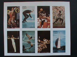 STAFFA SCOTLAND STAMP:1976 OLYMPIC GAMES MONTREAL IMPERF- MNH - MINI SHEET