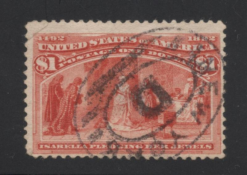 US#241 Salmon - New York Cancel - Faults