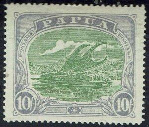 PAPUA 1916 LAKATOI 10/- WITH CERTIFICATE