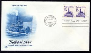 US 2260 Tugboat Artcraft U/A FDC