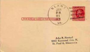 United States, Government Postal Card, Virginia