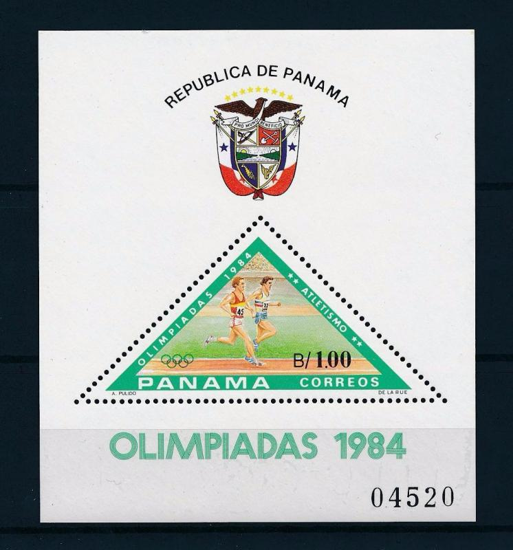 [55478] Panama 1984 Olympic games Athletics Triangle MNH Sheet